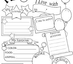 All About Me Worksheets Pdf All About Me Coloring Pages Photo Album Sabadaphnecottage