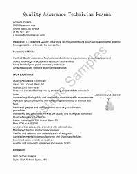 Quality Control Technician Resume Sample Quality Control Technician Resume Sample Best Of Fresh Control Room 1