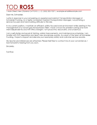 Leading Transportation Cover Letter Examples Resources
