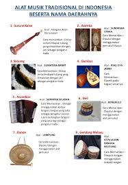 Setiap suku mempunyai tarian, lagu, alat musik tradisional yang. Alat Musik Tradisional Di Indonesia Beserta Nama Daerahnya