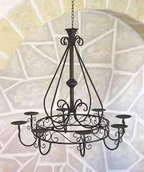 Dandibo Kronleuchter 101318 Hängeleuchter D 60cm Deckenleuchter Kerzenständer Kerzenhalter Aus Metall