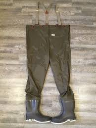Ll Bean Waders Size Chart Vintage Ll Bean Fly Fishing Chest Waders With Felted Boots