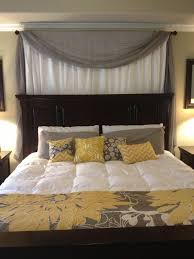 Fabric Behind Bed Best 25 Curtain Behind Headboard Ideas On Pinterest Curtains  Bedroom Curtains Amazon
