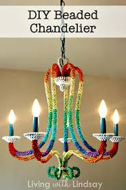 how to create beaded chandelier