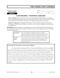 The Things They Carried Novel Guide Book, English: Teacher's Discovery