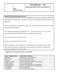 Monthly Bank Reconciliation Template 7 Statement Templates