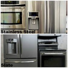 Stainless Steel Refridgerators Slate Or Stainless Steel Whats The Difference