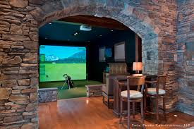 best home golf simulator. Almost A Real Cave Best Home Golf Simulator