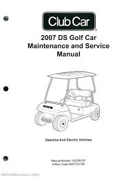 club car ds golf car gas and electric golf cart service manual club car parts diagram front end at Club Cart Parts Diagram