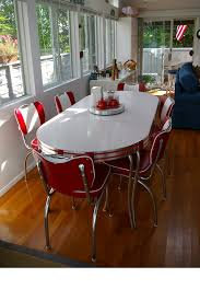 elegant modern reion of diner setting retro leaf table and 6 red 1950 s dining room table and chairs prepare