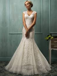 Fit And Flare Wedding Gown With Sleeves