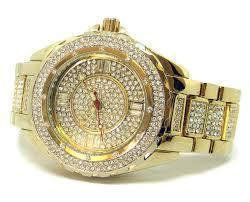 men s faux diamond hiphop bling watch bracelet set gold plated men s faux diamond hiphop bling watch bracelet set gold plated