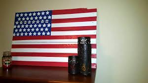 handmade wooden pallet american flag wall art