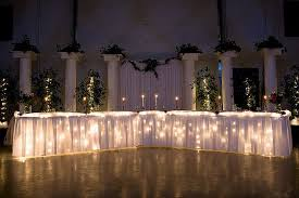 Wedding table lighting Pin Spot Lights Under Head Table Cake Table And Gift Table Pinterest The Head Table Wedding Ideas Pinterest Wedding Head Table