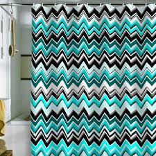 aqua chevron shower curtain. madart inc. turquoise black white chevron shower curtain aqua n