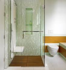 vancouver waterworks glass tile bathroom contemporary with small toilet accessories green