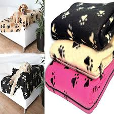 maravilloso fashion warm fleece soft paw print rug pet blanket car mat b07bmnfs4c