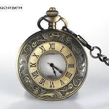 online get cheap mens pocket watches for aliexpress com vintage retro bronze r number dial pocket