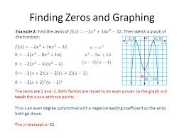 3 finding zeros and graphing the