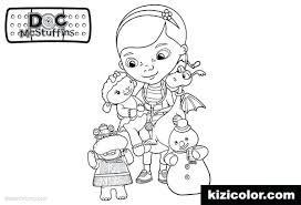 Doc Mcstuffins Lambie Coloring Pages Free Printable Sheets Doctor