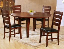 homelegance ameillia drop leaf round dining table in dark oak beyond s