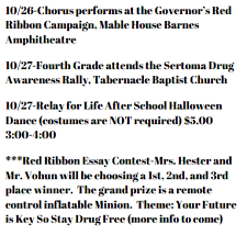 sharp creek elementary latest news red ribbon week oct  print
