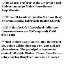 sharp creek elementary latest news red ribbon week oct  print