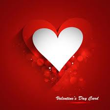Beautiful Heart Stylish Valentines Day Card Design Free