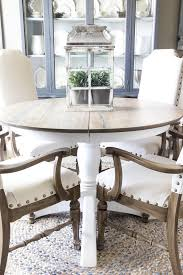 weathered oak dining table 2 of 5 at round gray wood kitchen