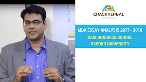 university of oxford said business school essay analysis  welcome to this article in which we re going to discuss the said mba program at oxford if you re looking at applying to said business school