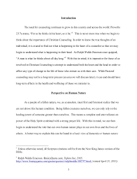 philosophy of christian counseling research paper