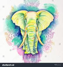colorful elephant drawings. Interesting Colorful Colorful Elephant Drawings  Photo11 Intended Elephant Drawings A