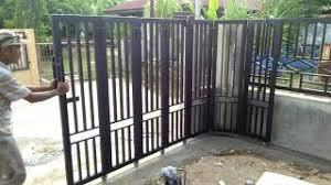 Sedang cari jasa pembuatan pintu besi dengan model terbaru? Contoh Pintu Sliding Besi Pagar Rumah Cute766