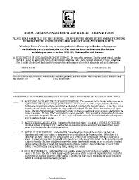 Colorado Horse Use Or Lesson Agreement And Liability Release Form ...
