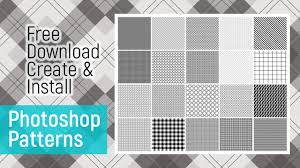 Photoshop Pattern Enchanting How To Download Install Create Pattern Photoshop Tutorial