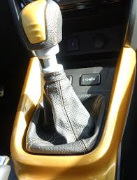 leather shift boot with coloured seam for your suzuki vitara