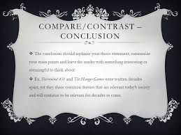 compare and contrast essay ppt video online  11 compare contrast conclusion