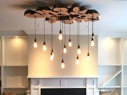 large wood chandelier custom made extra live edge olive rustic and industrial light fixture wooden orb