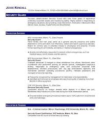 Security Guard Resume By Jesse Kendall Writing Resume Sample
