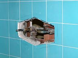 front tile cut demo showing old tub shower diverter valve for single handle ada tub shower