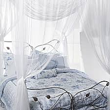 image of Majesty White Large Bed Canopy