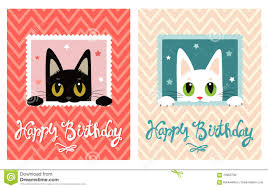 Happy Birthday Card Printable Template Happy Birthday Card Happy Birthday Card With Cute Cat