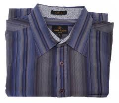 Mens Designer Grey Shirt Simon Carter Shirt Blue And Grey Mens Second Hand