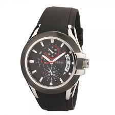 men s watch black silicone quartz w12621g1 guess men s watch black silicone quartz w12621g1