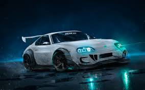 cool cars with neon lights wallpaper. Wonderful Wallpaper Toyota Supra Racing Cars Photo Manipulation Neon Lights For Cool Cars With Wallpaper S