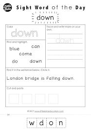 Sight Word Worksheets Kindergarten Printable Color Sight Word ...