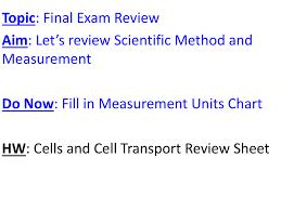 Scientific Method And Measurement Final Review