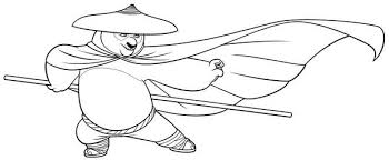Small Picture Attractive Kung Fu Panda Coloring Pages 6 mosatt