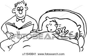 bedtime book cartoons child children dad family father kid people read story