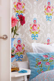 Pip Studio Khaki Shabby Chic Wallpaper Bell And Blue